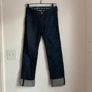 EARNEST SEWN - Crop Straight Leg Jeans